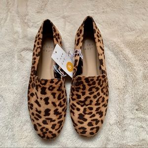 NWT A New Day Leopard Loafer Flats Size 5